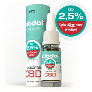 Huile de CBD Liposomale 2,5% Cibdol de face