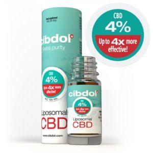 Huile de CBD Liposomale 4% Cibdol de face