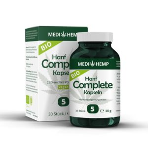 Huile de cbd bio en capsules 5% par Medihemp